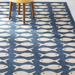 Lake Park Navy/Beige Indoor/Outdoor Area Rug