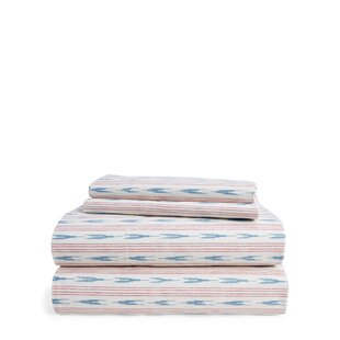 Lucie Stripe 200 Thread Count Striped 100% Cotton Sheet Set