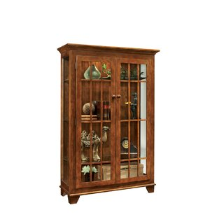 Shelia Lighted Curio Cabinet by Darby Home Co Today Sale Only