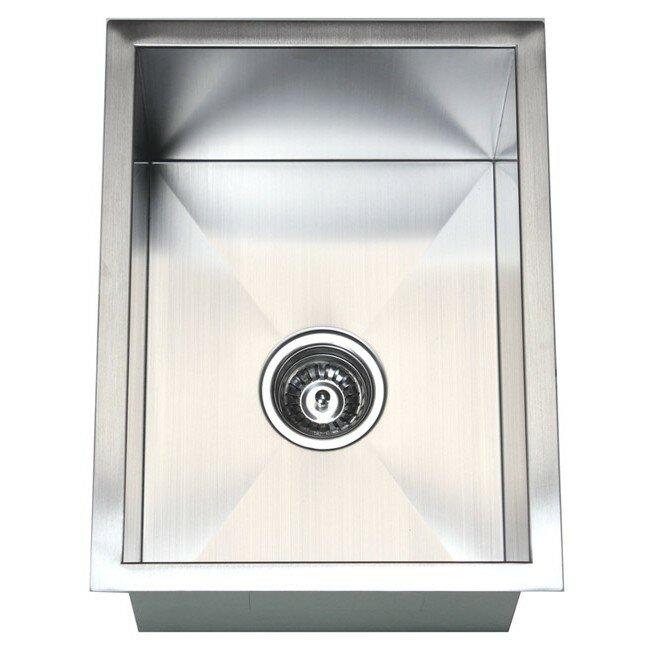 Narrow Sinks Kitchen Small kitchen sinks wayfair 15 x 20 single bowl undermount kitchen sink workwithnaturefo