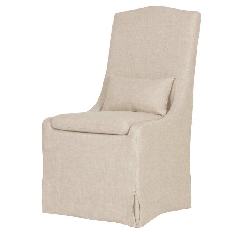Arbois French Linen Side Chair #linenslipcover #slipcoveredchair #slipcovered