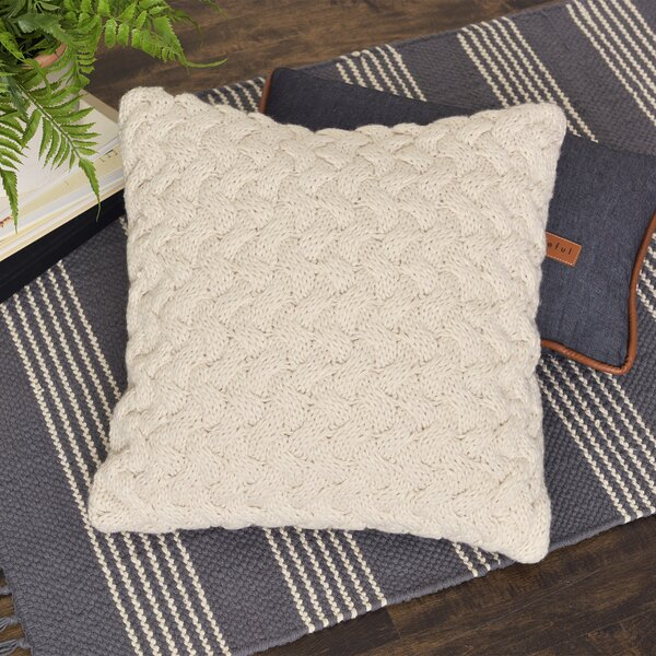 Tremendous Sweater Knit Throw Pillow Wayfair Theyellowbook Wood Chair Design Ideas Theyellowbookinfo