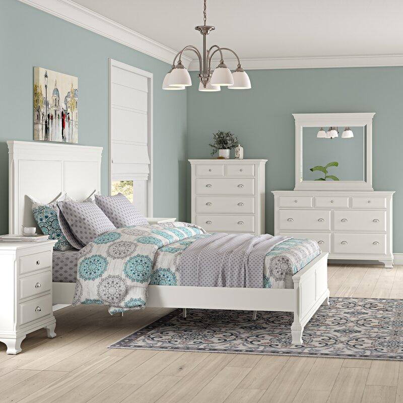 Winston Porter Shenk Standard Solid Wood 5 Piece Bedroom ...