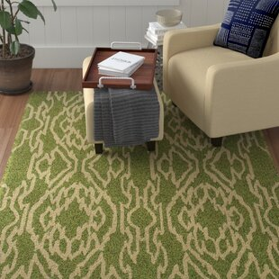 Buy clear Savanah Hand-Tufted Green/Ivory Outdoor Area Rug By Winston Porter