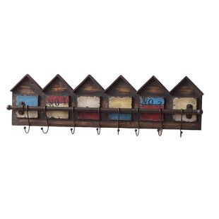 Row Of Houses Wall Mounted Coat Rack By Borough Wharf