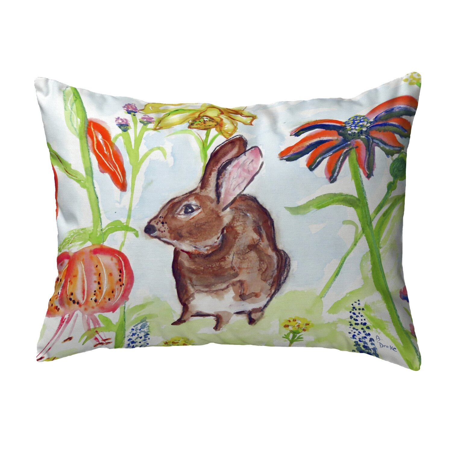 August Grove Maxon Rabbit Indoor Outdoor Lumbar Pillow Wayfair