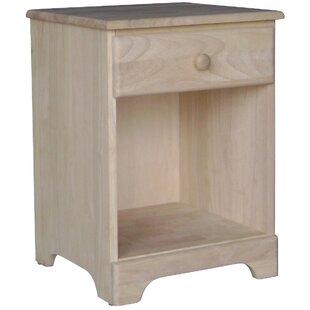 International Concepts Unfinished 1 Drawer Nightstand