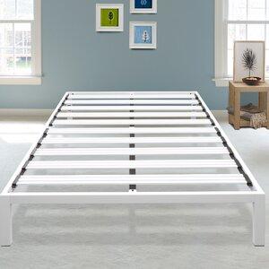 Hulme White Metal Platform Bed Frame