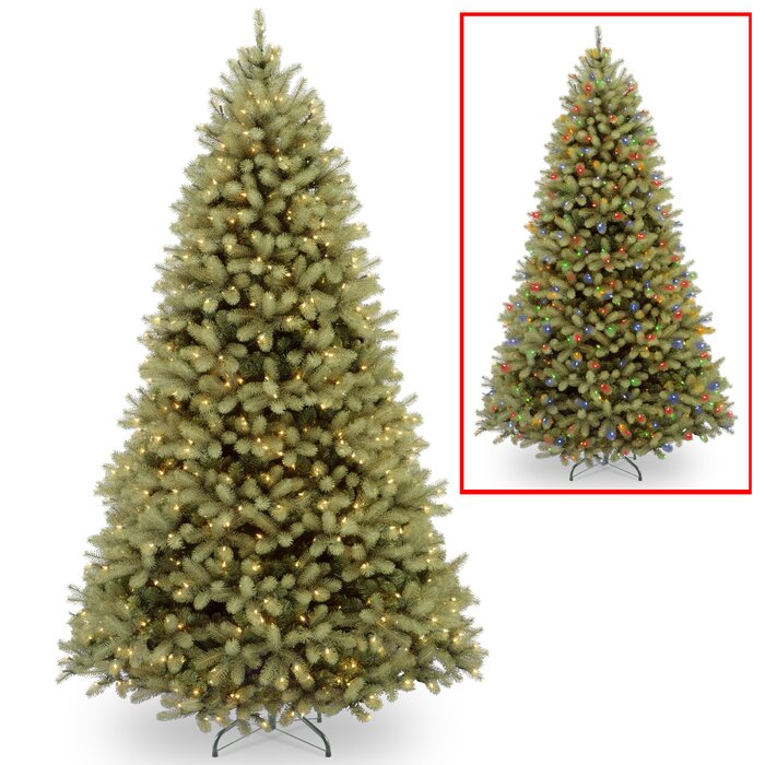 Downswept Douglas 10 Green Fir Artificial Christmas Tree With 1000 Led Multi Lights And Stand