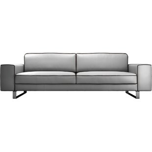 Shop Waverly Leather Sofa by Modloft Black