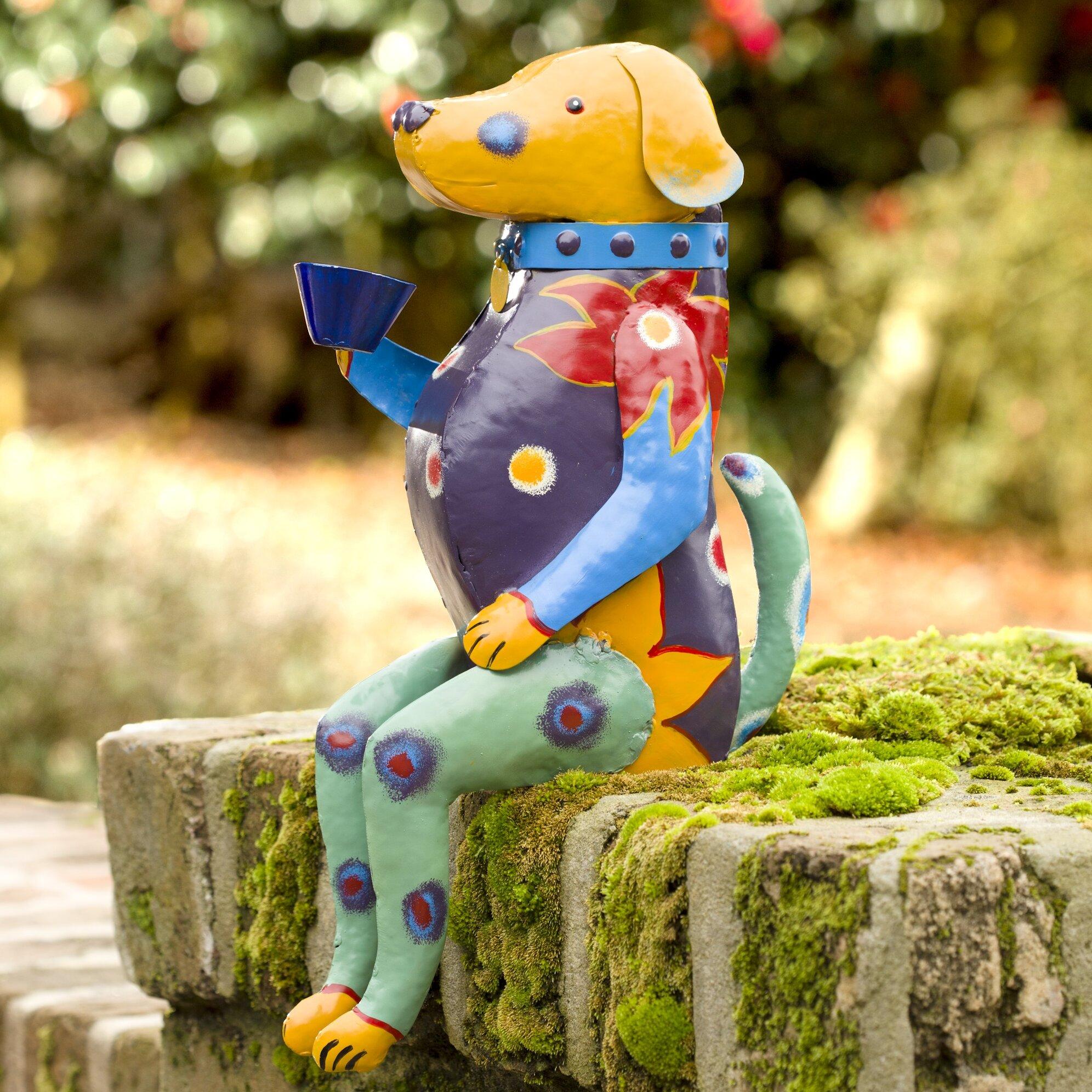 Plow & Hearth Talavera-Inspired Metal Dog Statue & Reviews | Wayfair