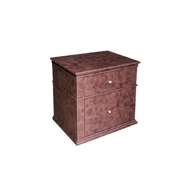 17 Stories Ahmed 2 Drawer Nightstand  Color: Dark Brown