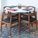 Carlsen 5 Piece Solid Wood Dining Set by George Oliver