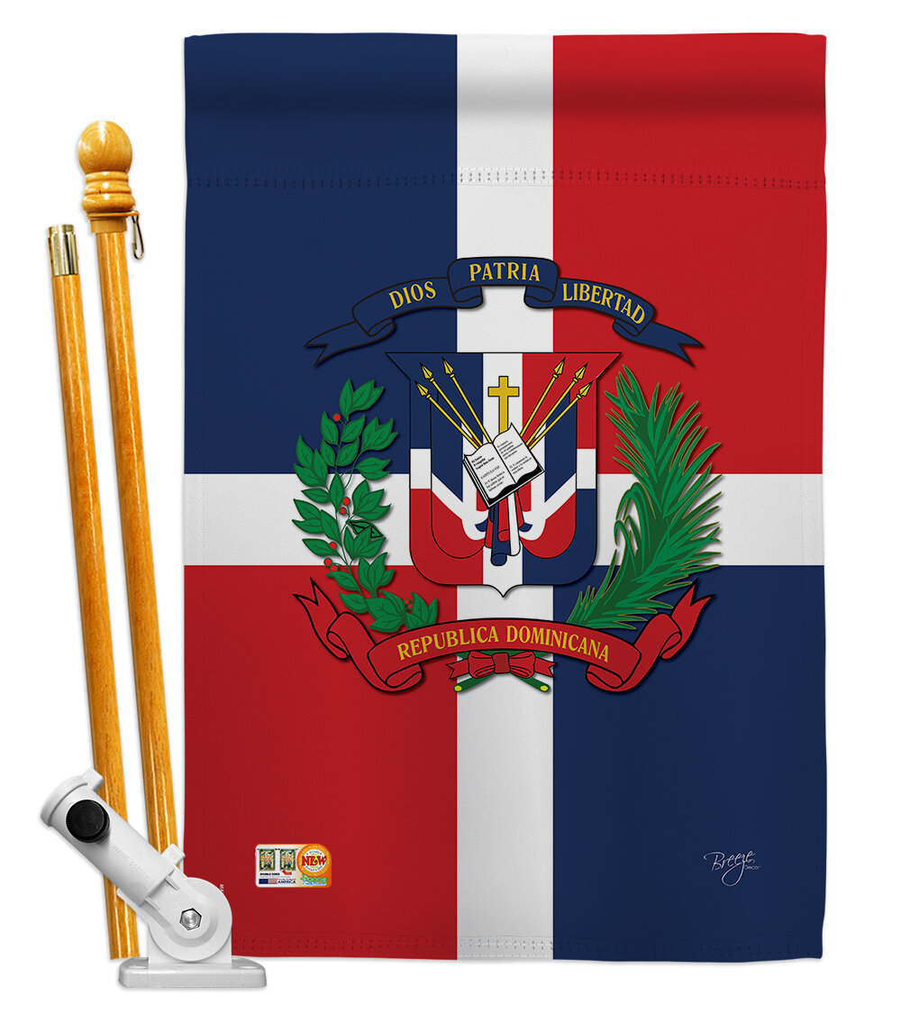 Breeze Decor Dominican Republic Flags Of The World Nationality Impressions 2 Sided Polyester 40 X 28 In Flag Set Wayfair