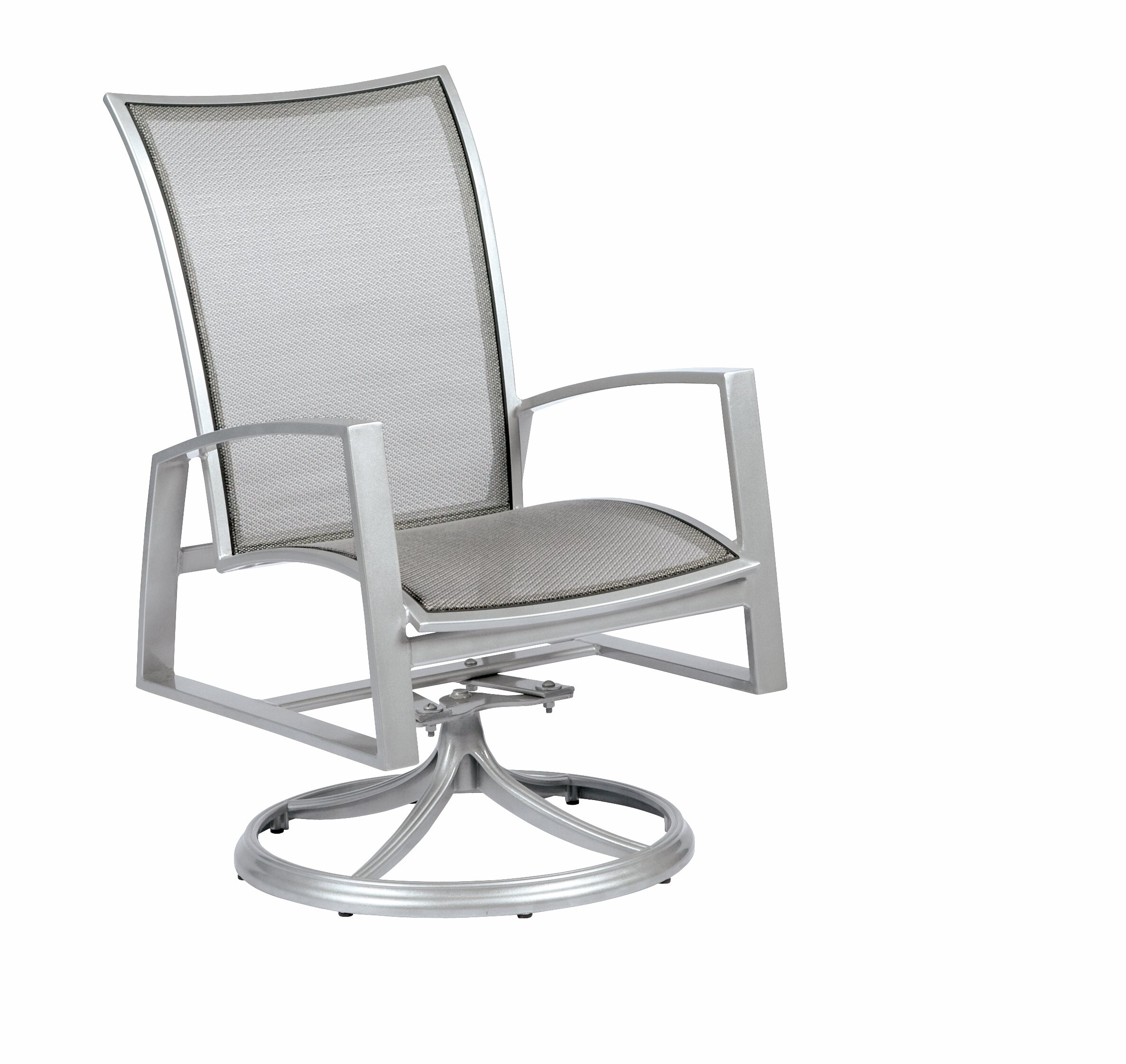 Picture of: Woodard Wyatt Flex Sling Swivel Rocker Patio Dining Chair Wayfair
