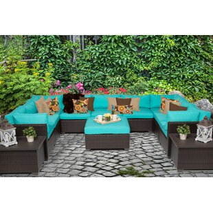 Belle 12 Piece Sectional Seating Group with Cushions