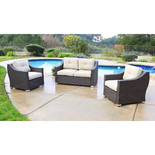 Suai 3 Piece Sofa Seating Group with Cushions