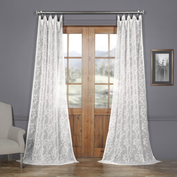 Patterned Sheer Curtains Wayfair
