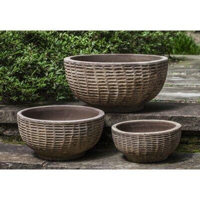 Caren 3 Piece Lattice Basket Terracotta Pot Planter Set Darby Home Co Color Antico Terra Cotta