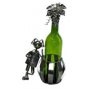 Man and Barrel 1 Bottle Tabletop Wine Rac..