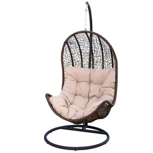 Ghazali Eggshaped Swing Chair with Stand by World Menagerie