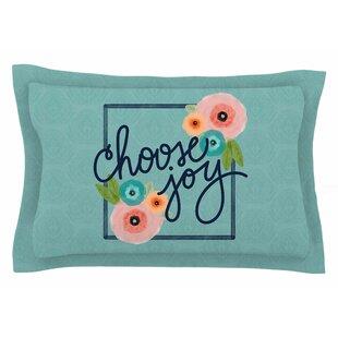 Noonday Design 'Choose Joy (Floral)' Digital Sham