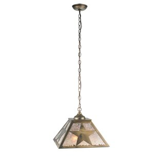 Texas Star 2-Light Square/Rectangle Pendant by Meyda Tiffany