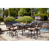 Milsap 9 Piece Bar Height Dining Set with Cushions