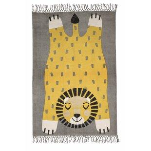 Landon Handwoven Cotton Grey/Yellow Rug by Metro Lane