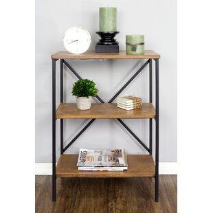 Low priced Gasper 3-Shelf Standard Bookcase by Gracie Oaks
