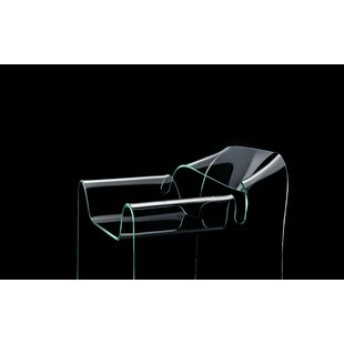 Boynton Ghost Curved Glass Monolithic Armchair By Wade Logan