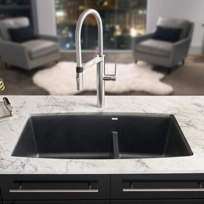 "Bathroom Sink 25 X 19 blanco performa 33"" x 19"" 2 basin undermount kitchen sink"