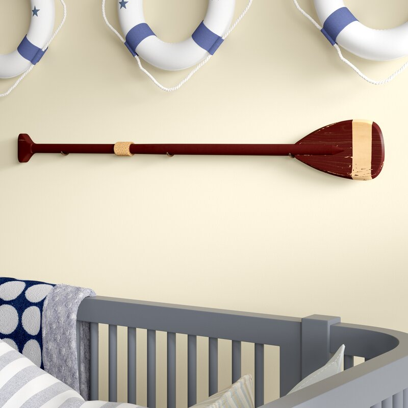 Breakwater Bay Boat Paddle with Hooks Wood Wall Décor & Reviews ...