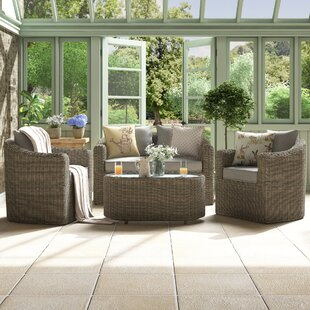 Waterton 4 Seater Rattan Sofa Set By Sol 72 Outdoor