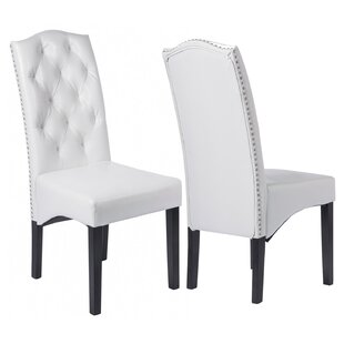 Marlen Tufted Upholstered Dining Chair in White by Red Barrel Studio