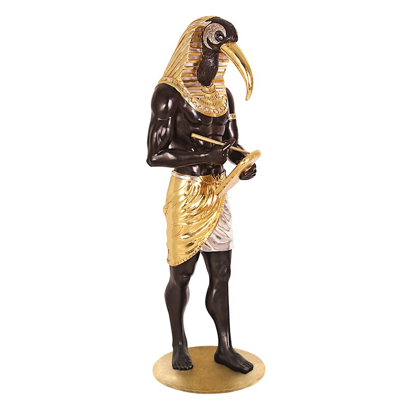 Design Toscano The Egyptian Grand Ruler Life Size Thoth Statue Wayfair
