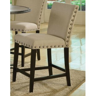 Garvin 25 Bar Stool with Cushion (Set of 2) by Breakwater Bay