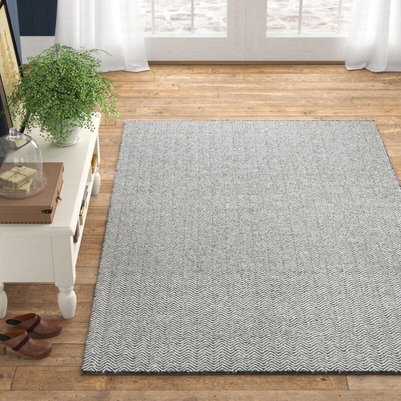 Ava Handmade Tufted Wool Grey Area Rug Reviews Birch Lane