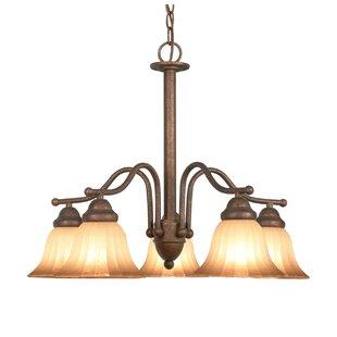 Morgan Park 5-Light Shaded Chandelier by Woodbridge Lighting