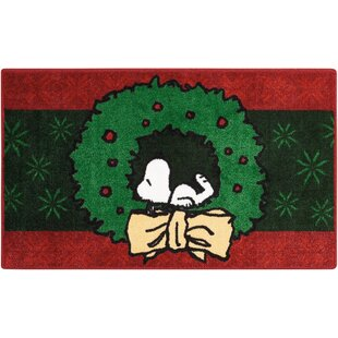 Deals Peanuts Buddies Green/Red Area Rug By Nourison