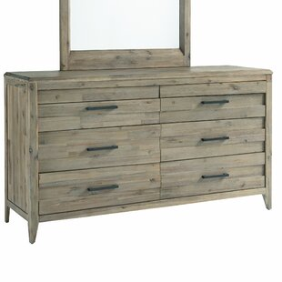 Descartes 6 Drawer Double Dresser with Mirror