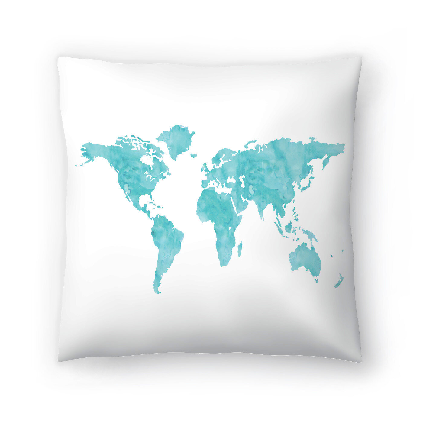 East Urban Home World Map Wc Blue Throw Pillow Wayfair