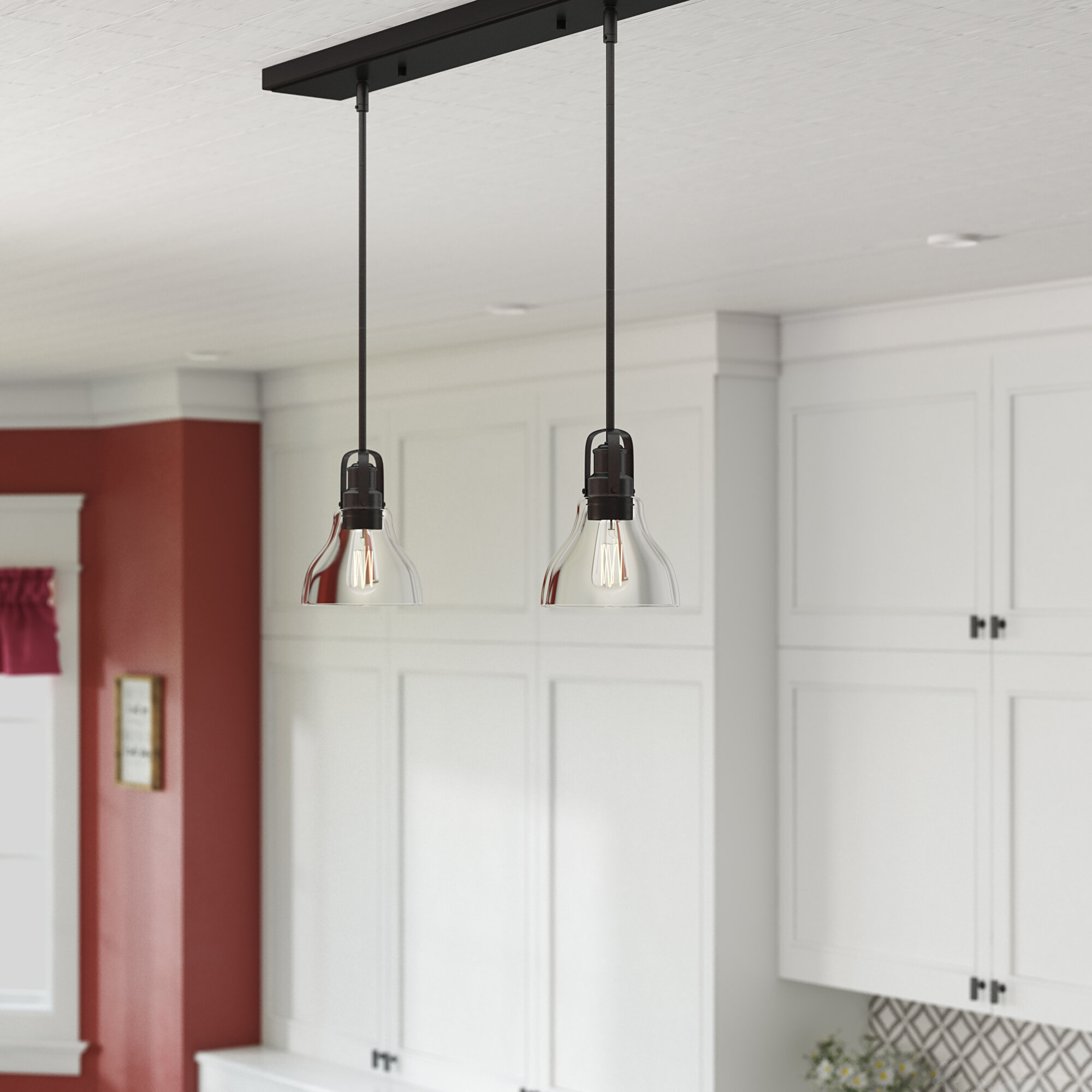 Laurel Foundry Modern Farmhouse Lindley 2 Light Kitchen Island Linear Pendant Reviews Wayfair Ca