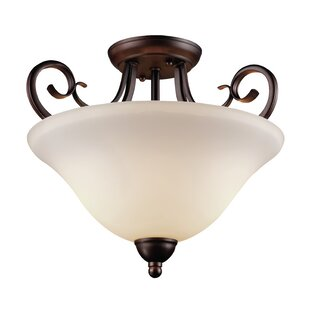 Barrera 1-Light Semi Flush Mount by Fleur De Lis Living