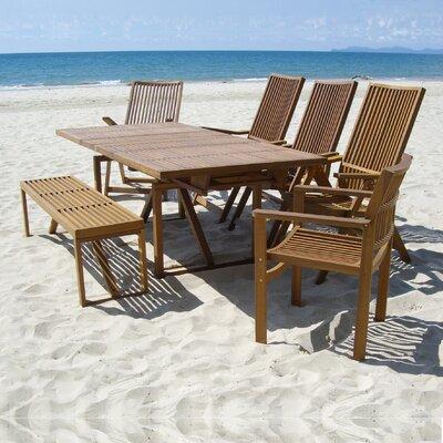 Baskin Solid Wood  Dining Table by Brayden Studio Modern