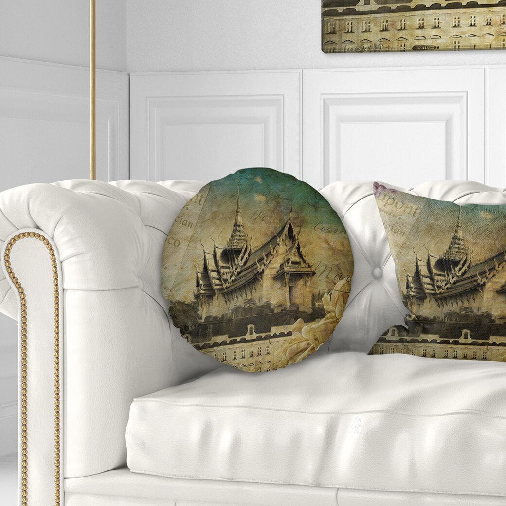 Style Sky Castle Contemporary Throw Pillow