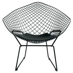 Orren Ellis Onion Creek Diamond Papasan Chair with Leatherette PU Pad