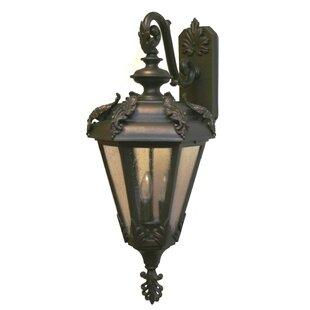 Alcott Hill Petrey 3-Light Outdoor Wall Lantern