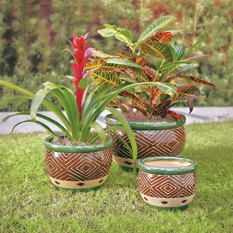 Adamsdale 3 Piece Ceramic Pot Planter Set Reviews Joss Main