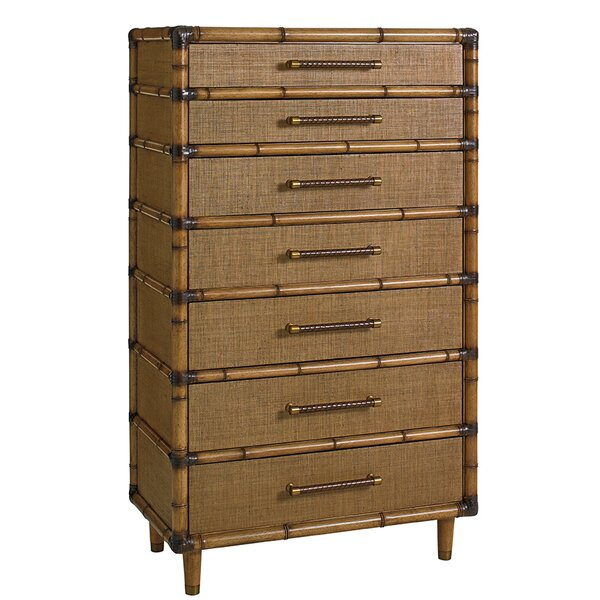 Tommy Bahama Home Twin Palms 7 Drawer Chest Perigold